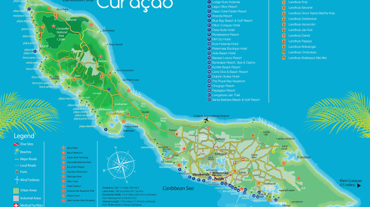 CURACAO ISLAND MAP- WEB