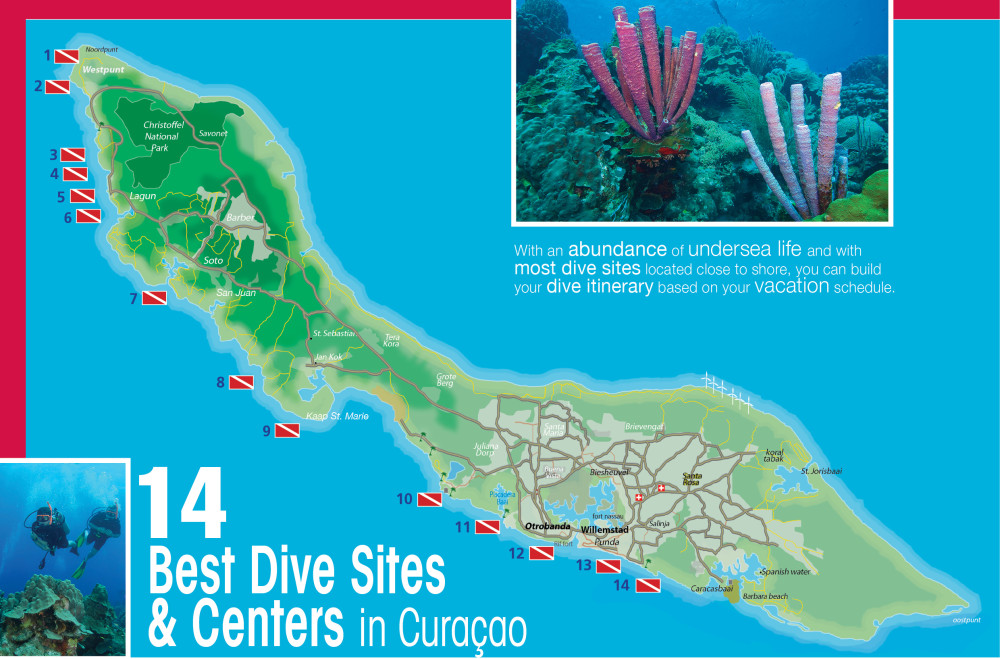 CURACAO DIVE MAP